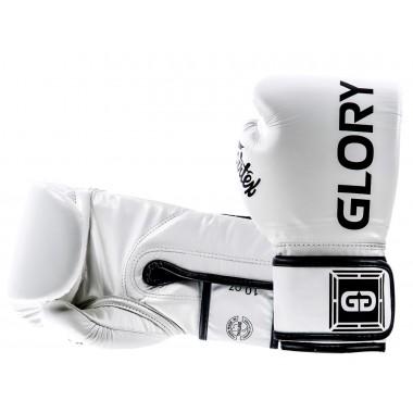 "RĘKAWICE BOKSERSKIE FAIRTEX BGVG1 (white/black piping) ""GLORY"""