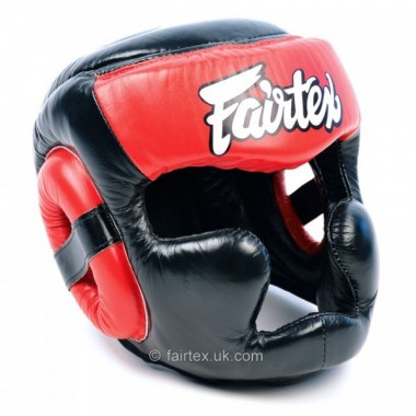 KASK BOKSERSKI FAIRTEX HG13 [black/red]