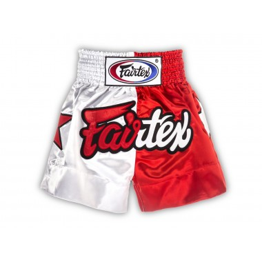 SPODENKI TAJSKIE FAIRTEX BS113 (redwhite) Patriot Limited Collection
