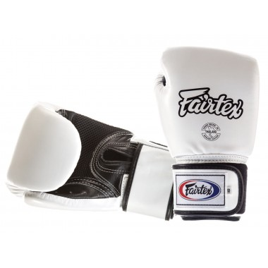 RĘKAWICE BOKSERSKIE FAIRTEX BGV1-B (white/black palm) breathable