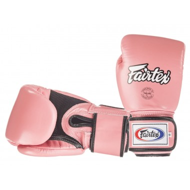 RĘKAWICE BOKSERSKIE FAIRTEX BGV1-B (pink/black piping) breathable