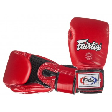 RĘKAWICE BOKSERSKIE FAIRTEX BGV1-B (red/black piping) breathable