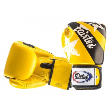 "RĘKAWICE BOKSERSKIE FAIRTEX BGV1-N (yellow/black) ""Nation Print"""