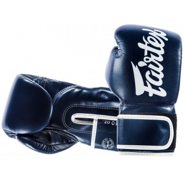 "RĘKAWICE BOKSERSKIE FAIRTEX BGV14 (blue/white piping) ""Microfiber"""