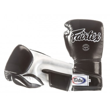 "RĘKAWICE BOKSERSKIE FAIRTEX BGV6 (black/white palm) ""ANGULAR SPARRING"""