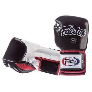 "RĘKAWICE BOKSERSKIE FAIRTEX BGV5 (black/white/red) ""Super Sparring"""