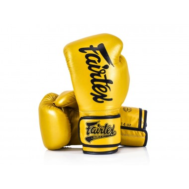 "RĘKAWICE BOKSERSKIE FAIRTEX BGV18 (gold) ""Super Sparring"""