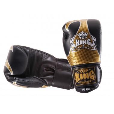 "RĘKAWICE BOKSERSKIE TOP KING TKBGEM-01GD ""EMPOWER CREATIVITY"" (black/gold)"