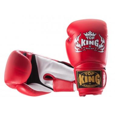 "RĘKAWICE BOKSERSKIE TOP KING TKBGSA ""SUPER AIR"" (133) (red/white)"