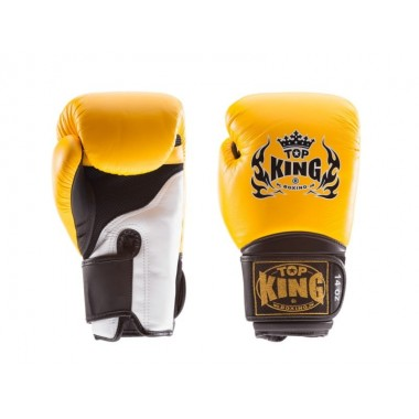 "RĘKAWICE BOKSERSKIE TOP KING TKBGSA ""SUPER AIR"" (152) (yellow/black/white)"
