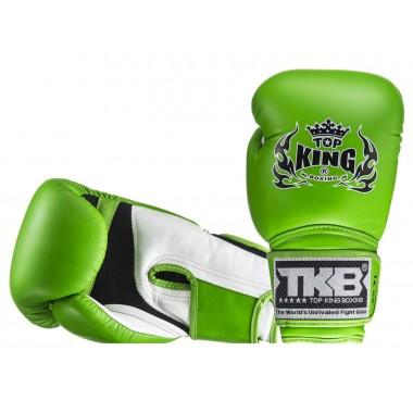 "RĘKAWICE BOKSERSKIE TOP KING TKBGSA ""SUPER AIR"" (177) (white/green/green)"