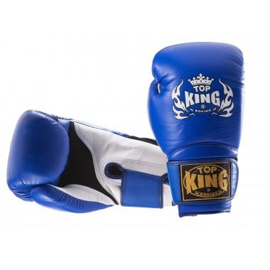 "RĘKAWICE BOKSERSKIE TOP KING TKBGSA ""SUPER AIR"" (144) (blue/white)"