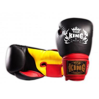 "RĘKAWICE BOKSERSKIE TOP KING TKBGSA ""SUPER AIR"" (523) (black/red/yellow)"