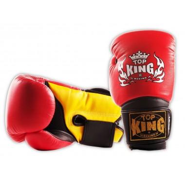 "RĘKAWICE BOKSERSKIE TOP KING TKBGSA ""SUPER AIR"" (532) (red/black/yellow)"