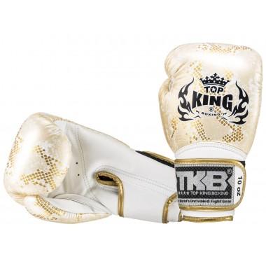 """RĘKAWICE BOKSERSKIE TOP KING TKBGSS-02WH_GD """"SUPER STAR SNAKE"""" (white/gold)"""