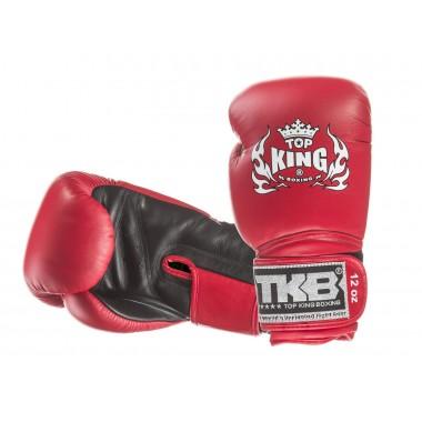 "RĘKAWICE BOKSERSKIE TOP KING TKBGSV ""SUPER"" (red/black palm)"