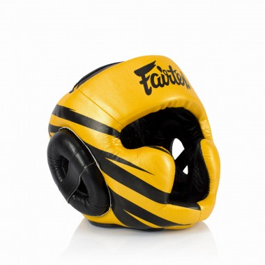 "KASK BOKSERSKI SPARINGOWY FAIRTEX HG16-M1 (gold/black) ""Super Sparring"""