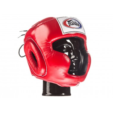 "KASK BOKSERSKI SPARINGOWY FAIRTEX HG3 (red) ""Full Coverage Style"""