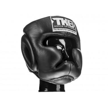 "KASK BOKSERSKI SPARINGOWY TOP KING TKHGEC-LV (222) ""EXTRA COVERAGE"" (black/black/black)"