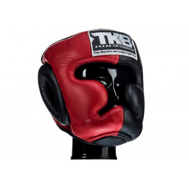 "KASK BOKSERSKI SPARINGOWY TOP KING TKHGEC-LV (322) ""EXTRA COVERAGE"" (red/black/black)"