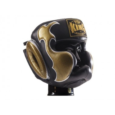 "KASK BOKSERSKI SPARINGOWY TOP KING TKHGEM-01GD ""EMPOWER CREATIVITY"" (black/gold)"