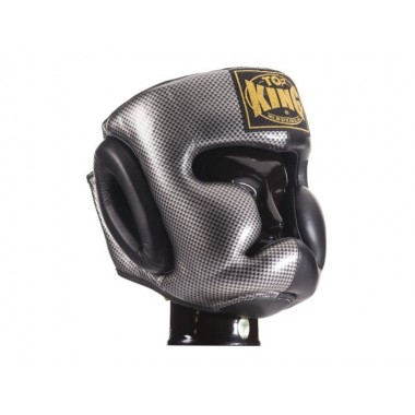"KASK BOKSERSKI SPARINGOWY TOP KING TKHGEM-02SV ""EMPOWER CREATIVITY"" (black/silver)"