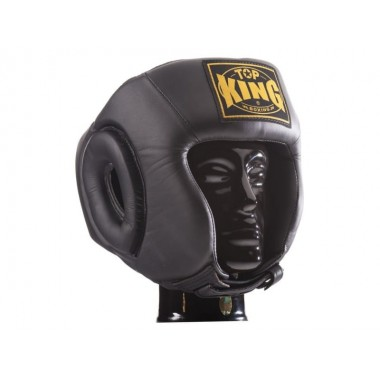 "KASK BOKSERSKI SPARINGOWY TOP KING TKHGOC(SL) ""OPEN CHIN COMPETITION"" (black)"