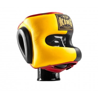 KASK BOKSERSKI SPARINGOWY TOP KING TKHGPT (OC) (523) (yellow/black/red)