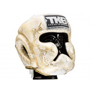 "KASK BOKSERSKI SPARINGOWY TOP KING TKHGSS-02WH_GD ""SUPER STAR SNAKE"" (white/gold)"