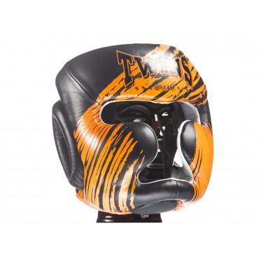 KASK BOKSERSKI SPARINGOWY TWINS SPECIAL FHG-TW2 (black/orange)