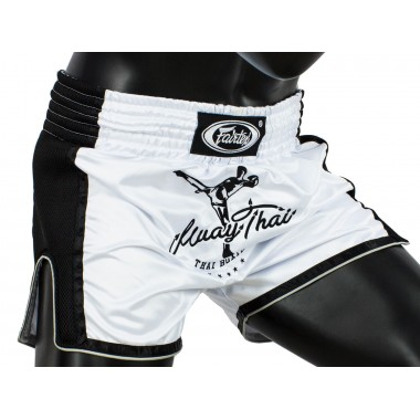 SPODENKI TAJSKIE FAIRTEX BS1707 (white/black)